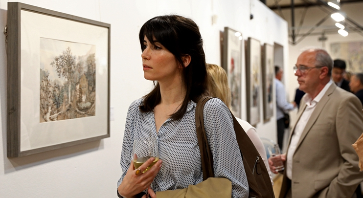 Chinese ink wash paintings on display in Sarajevo