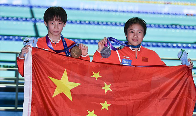 China's Chen wins women's 10m platform final at FINA World Championships