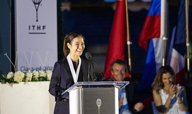 Li Na attends induction ceremony of International Tennis Hall of Fame