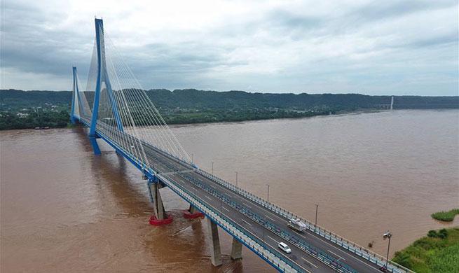 Nanxi Xianyuan Yangtze River Bridge opens to public traffic in China's Sichuan