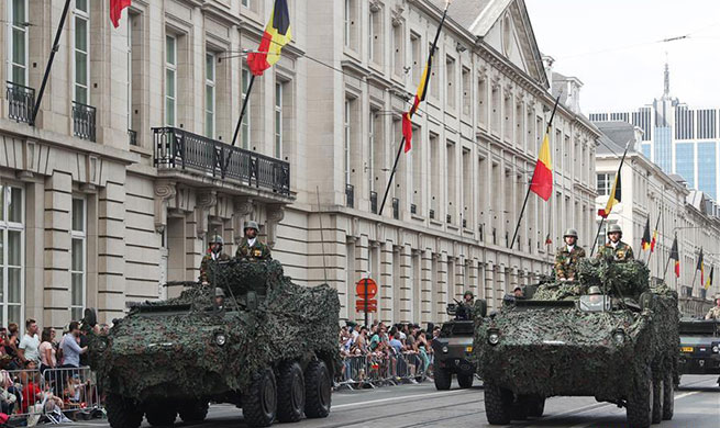 Belgian National Day celebrated in Brussels, Belgium