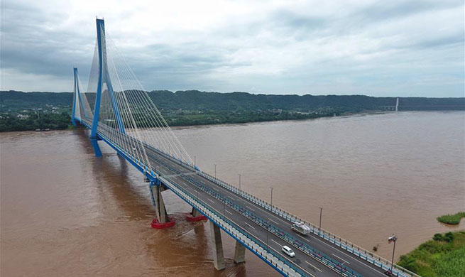 Nanxi Xianyuan Yangtze River Bridge opens to public traffic in China's Sichuan
