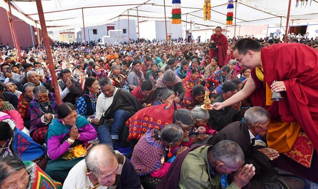 Buddhist activity held at Toling Monastery in Ali, China's Tibet