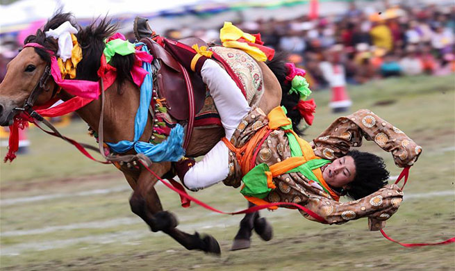In pics: Horse racing festival in Litang County, SW China's Sichuan