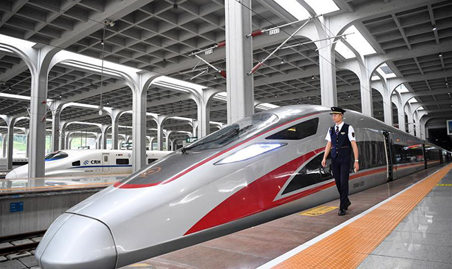 China's railway network sees steady growth in passenger trips in July: data