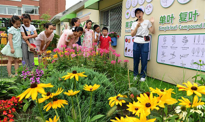 Students participate in science popularization event at park in China's Jilin