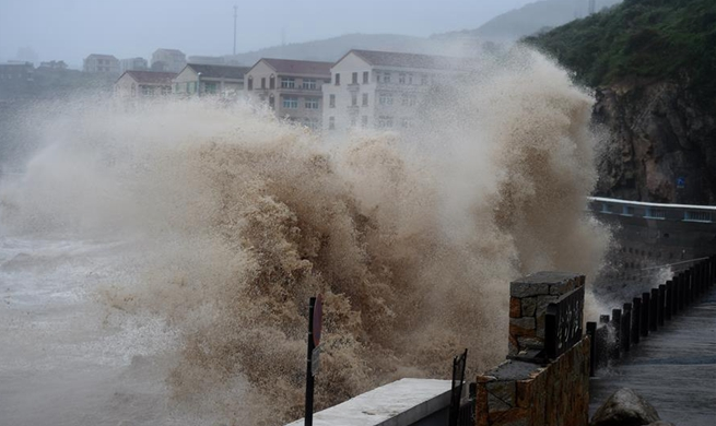 China issues red alert for Typhoon Lekima