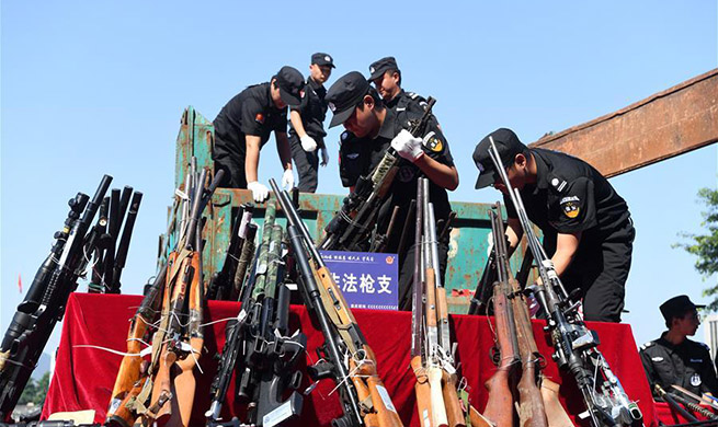 Chinese police destroy 107,000 illegal guns