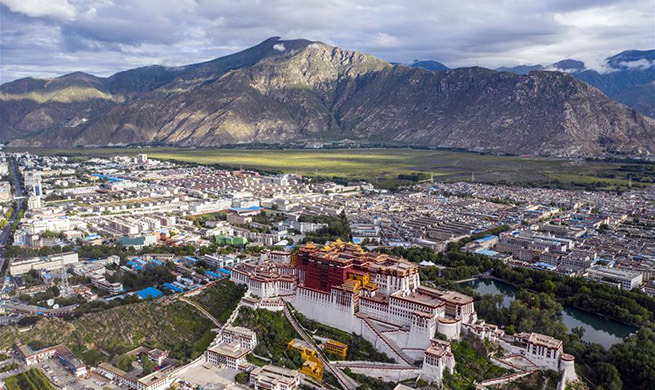 Stunning aerial shots display captivating sceneries of Lhasa, China's Tibet