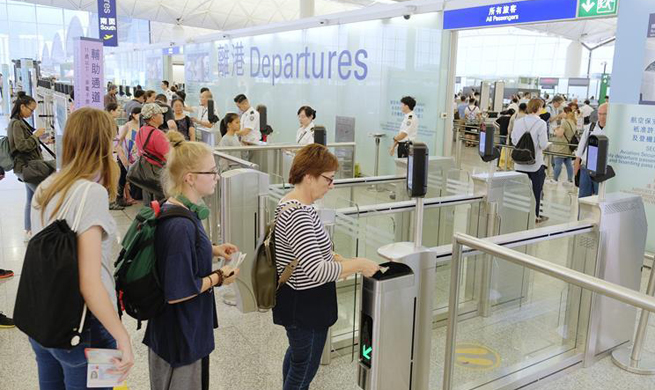 Hong Kong airport resumes operation after protest-forced halt