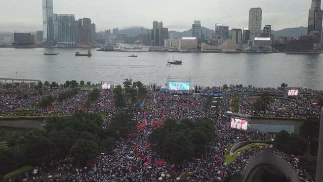 "More than 476,000 attend ""Oppose violence, save Hong Kong"" rally"