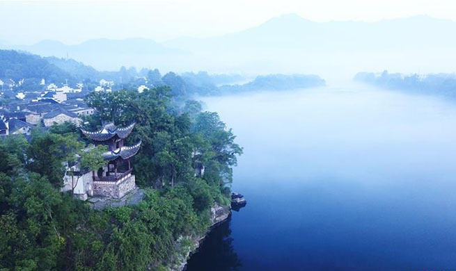 Scenery of Taohuatan scenic area in Jingxian County, E China's Anhui