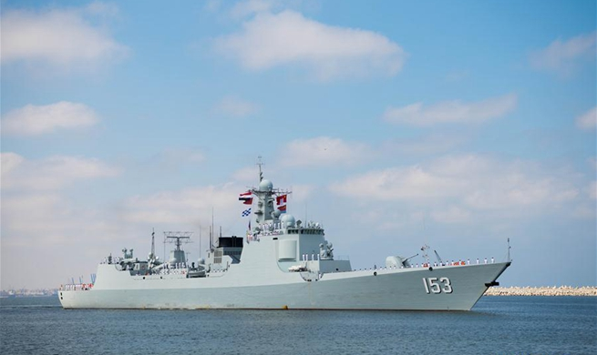 "Chinese missile destroyer ""Xi'an"" makes technical stop in Egypt's Alexandria"