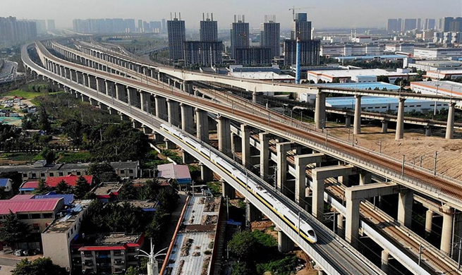 Henan section of Zhengzhou-Fuyang railway starts joint test