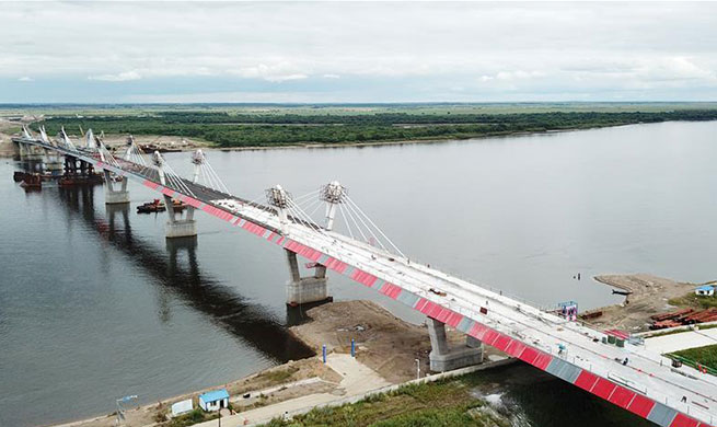 In pics: first highway bridge connecting China and Russia under construction