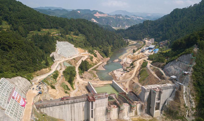 Reservoir constructed to help battle water shortage and poverty in China's Guizhou