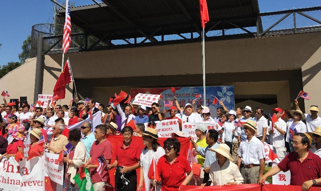 Chinese in Southern California rally against violence in Hong Kong