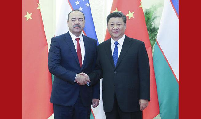 Xi meets Uzbek PM