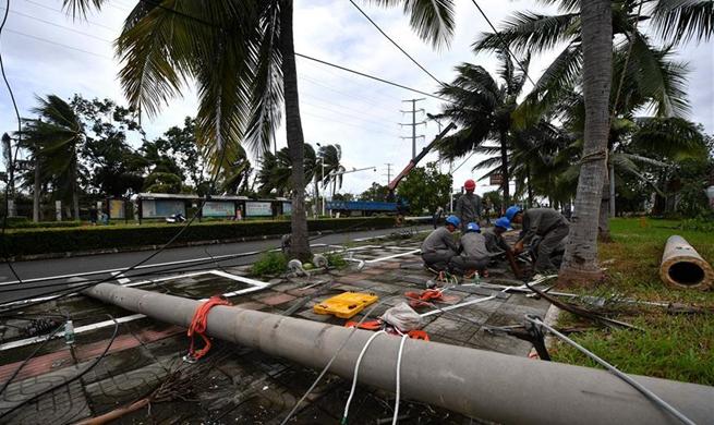 8 killed after tornado hit Hainan