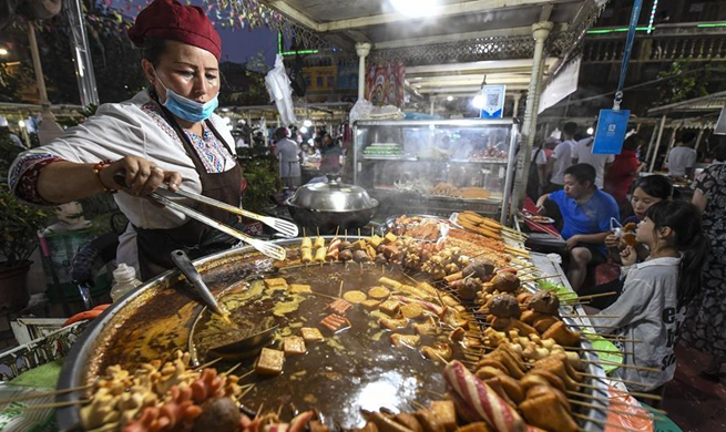 Nighttime economy booms in China's Xinjiang