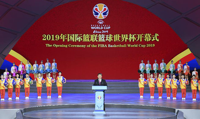 Xi attends opening ceremony of 2019 FIBA Basketball World Cup