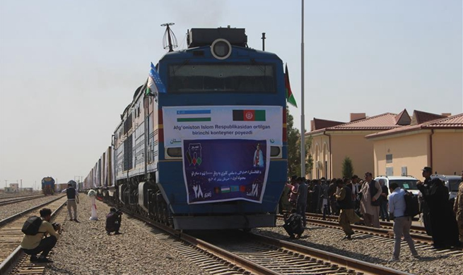 First cargo train from Afghanistan to China via Uzbekistan, Kazakhstan departs