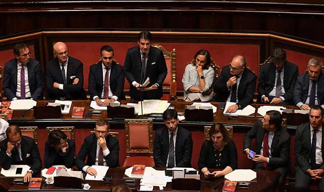 Italian new pro-Europe gov't wins confidence vote in senate