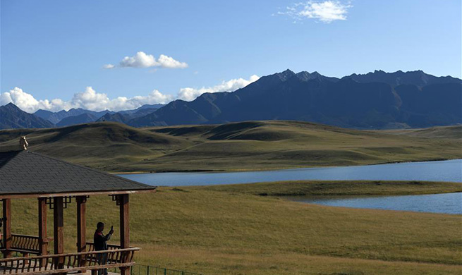 Beautiful scenery of Shandan horse ranch in NW China's Gansu