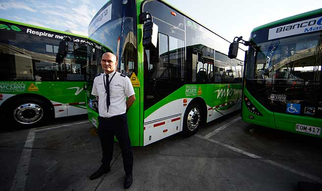 26 Chinese-made electric buses join mass transit system in Cali, Colombia