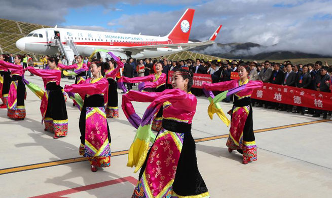 Garze Gesar Airport opens in SW China's Sichuan