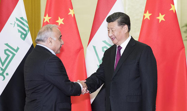 Xi meets with Iraqi prime minister