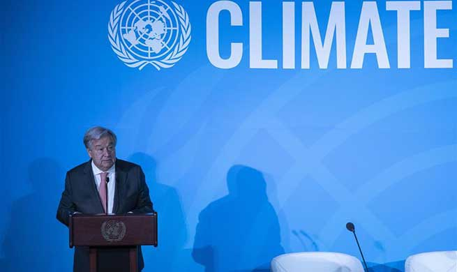 Guterres urges concrete action at UN climate summit