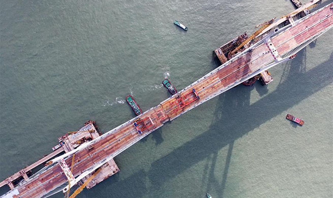 China Focus: China completes world's longest cross-sea road-rail bridge