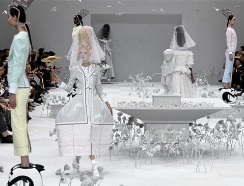 Creations of Thom Browne presented during Paris Fashion Week