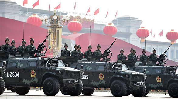China shows anti-terrorist force in military parade