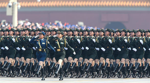 Female generals participate in military parade for first time