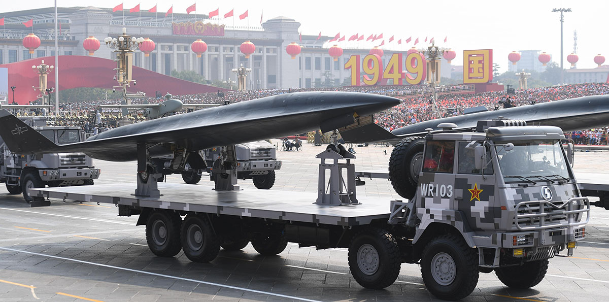 China exhibits advanced drones, unmanned underwater vehicles in military parade