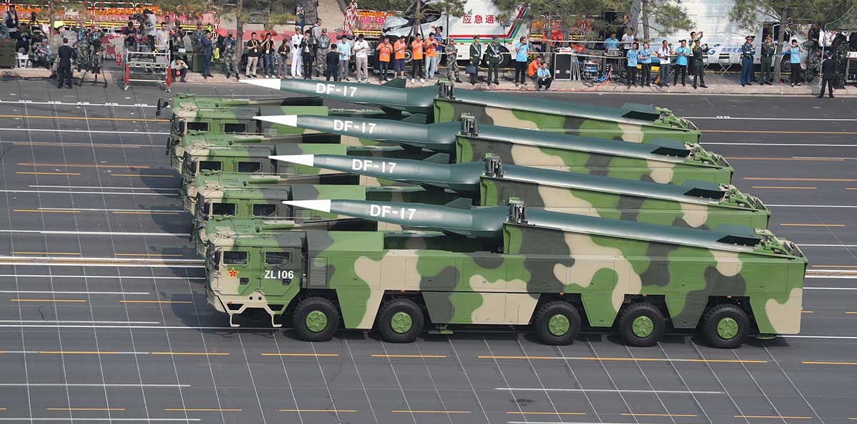 China unveils Dongfeng-17 conventional missiles in military parade