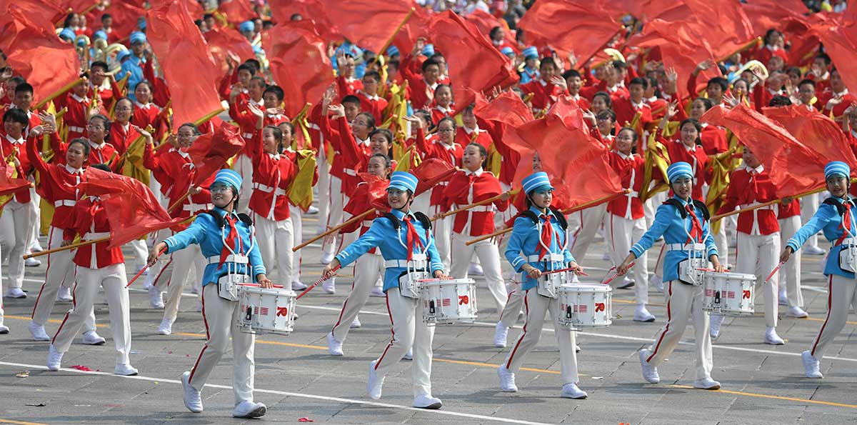 In pics: mass pageantry held on Tian'anmen Square