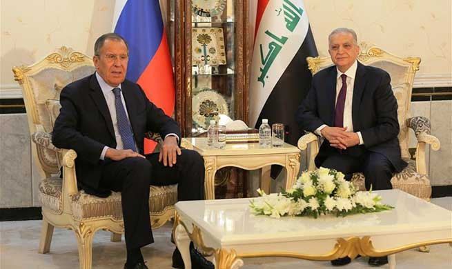 Iraqi FM meets with Russian counterpart in Baghdad