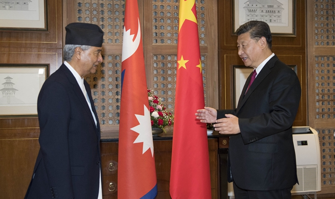 Xi meets Nepali Congress Party chief
