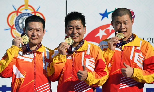 China wins tournament's 1st gold from 25m rapid fire pistol team at military games