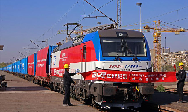First Chinese freight train arrives in Serbia
