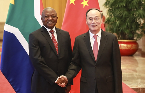 Chinese VP holds talks with South African deputy president