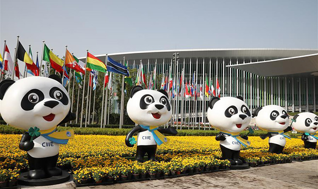 People prepare for 2nd CIIE in Shanghai