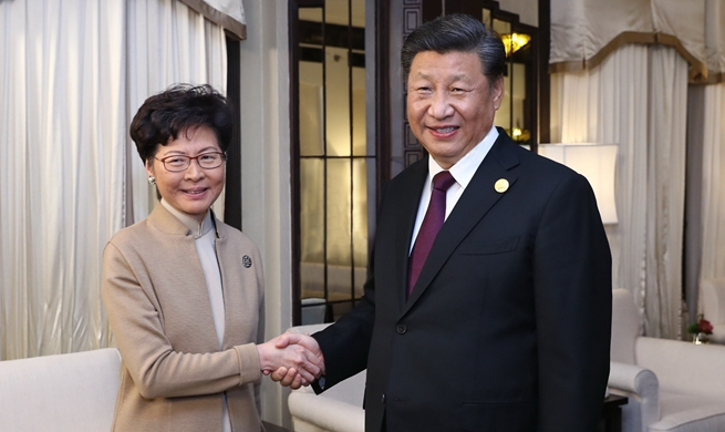 Xi meets HKSAR chief executive