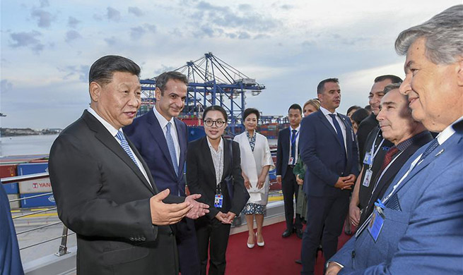 Xi, Greek PM visit Piraeus Port, hail BRI cooperation