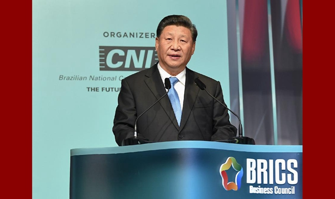 Xi urges business sector's active participation in BRICS cooperation