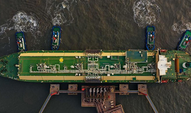 In pics: LNG wharf at Caofeidian port in Tangshan
