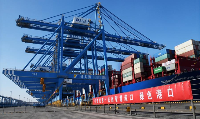Second phase of automatic dock of Qingdao port put into operation